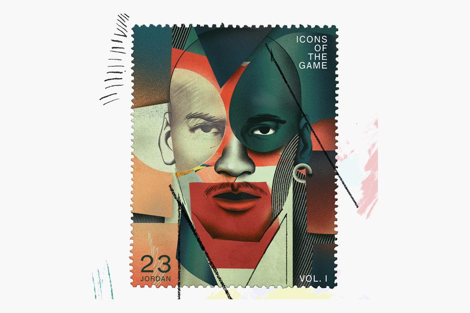 NBA Superstars - Michael Jordan Stamp
