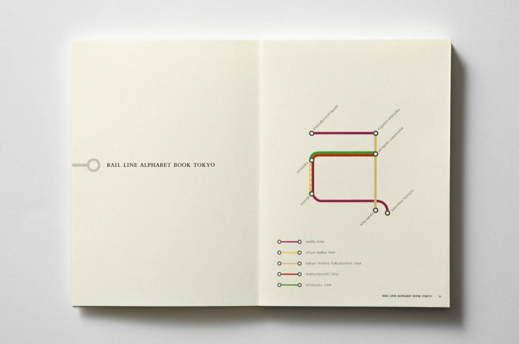 Rail line alphabet book Tokyo2