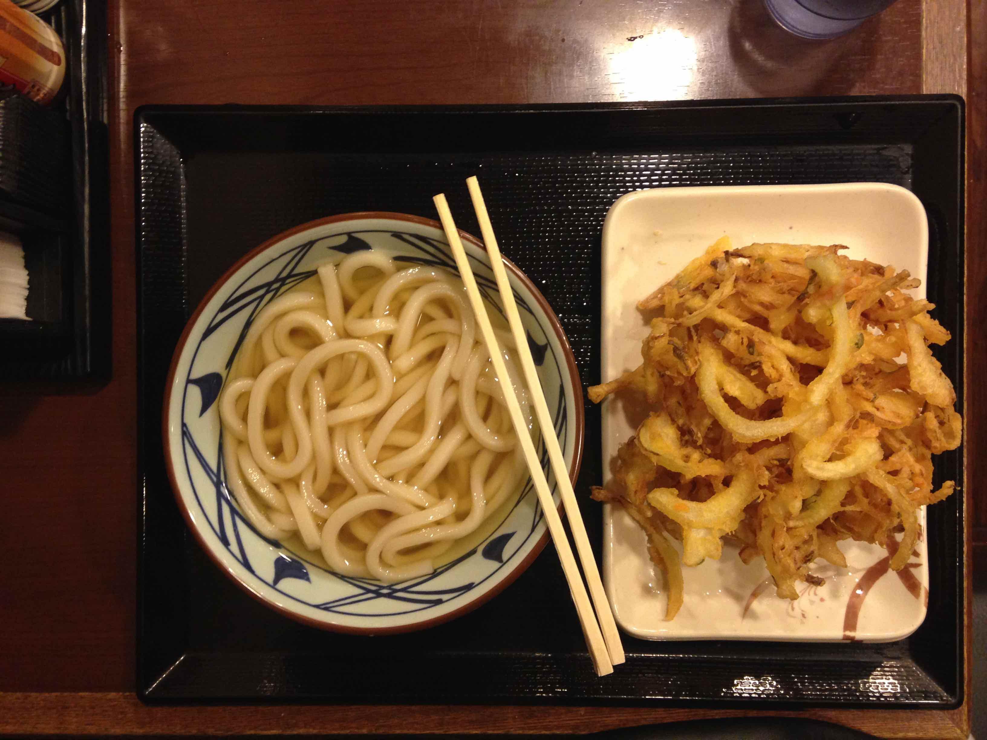 Udon Noodles con Tempura di verdure