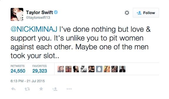 Taylor Swift vs Nicki Minaj