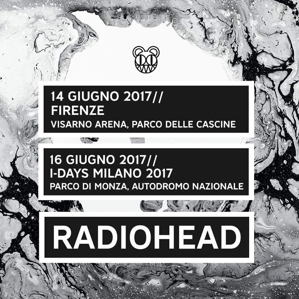 radiohead in italia a giugno