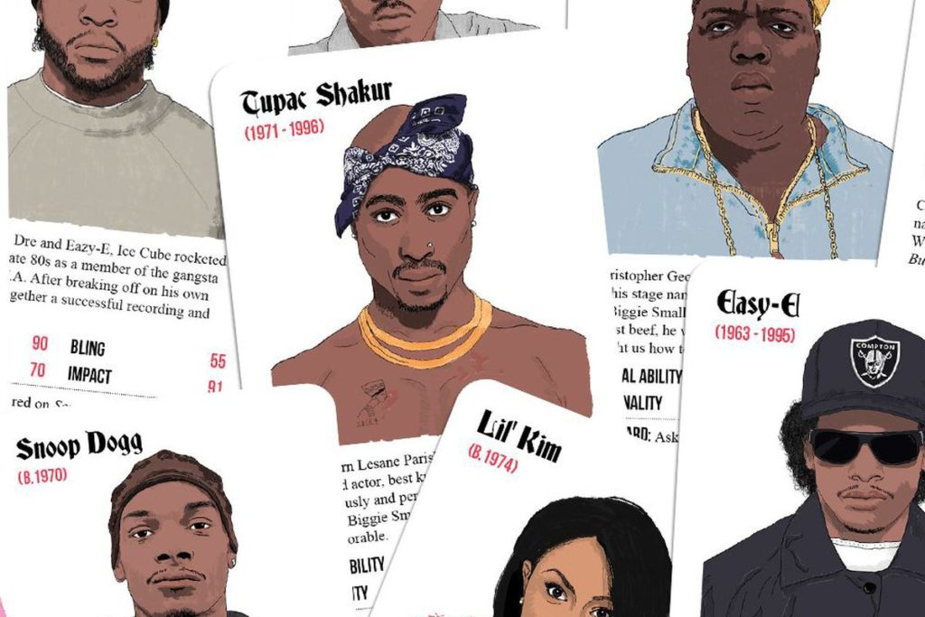 Gioco di carte per esperti di rap anni '90