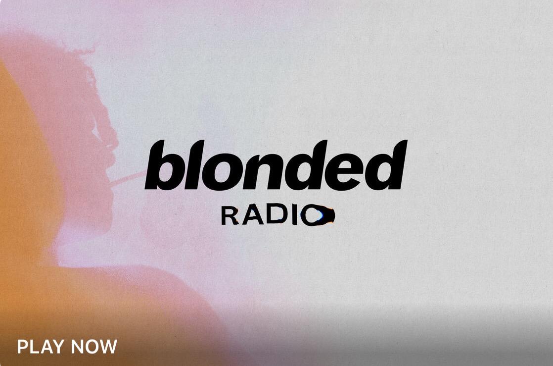 Ascolta #blondedRadio, lo show radiofonico di Frank Ocean
