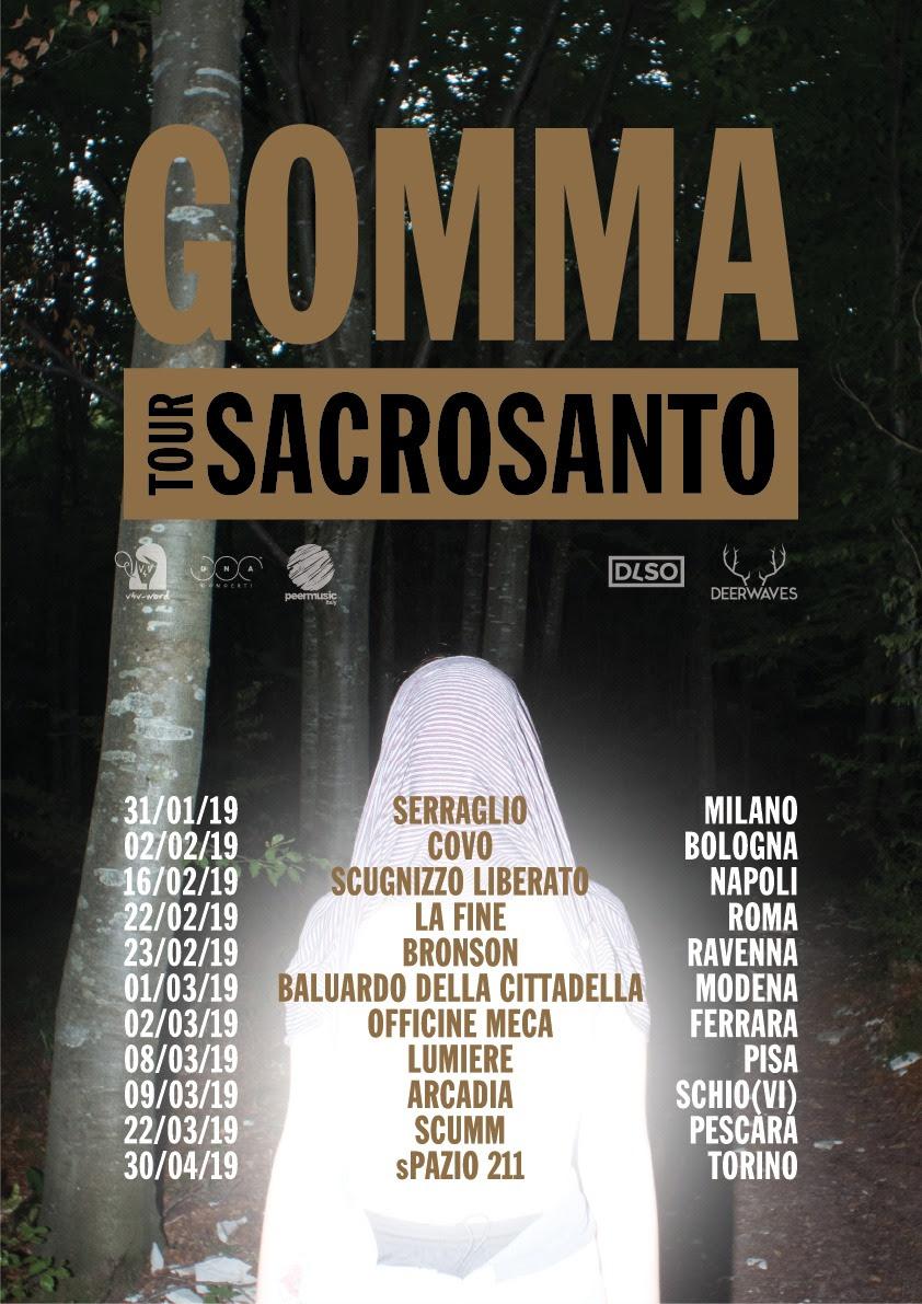 gomma sacrosanto tour
